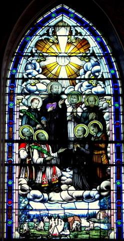Canadian Martyrs in Stained Glass